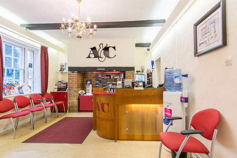 Adlam & Coomber Optometrists ST Neots Reception Area
