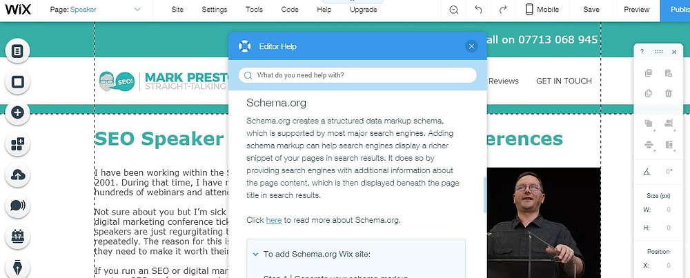 WIX SEO Features