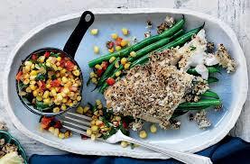 Eye healthy recipe of mustard coated fish