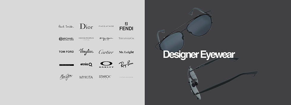 Designer Eyewear - Website Banner