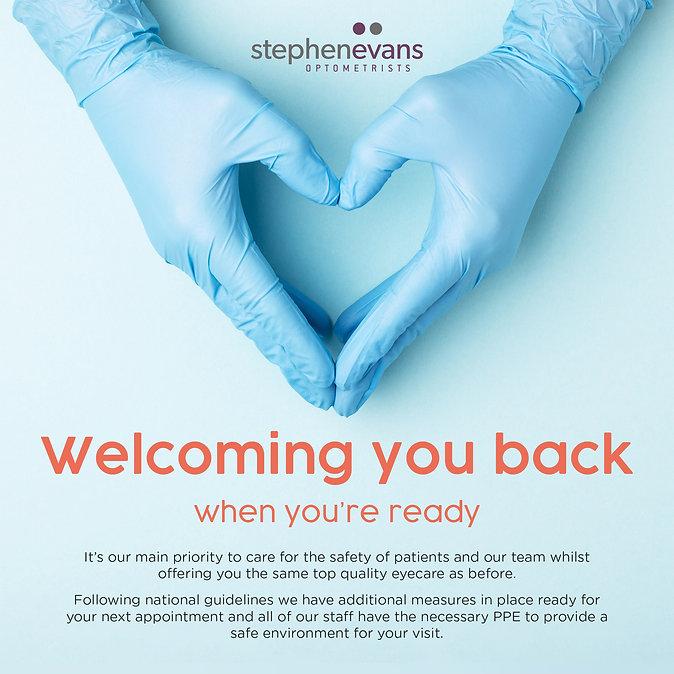 Welcoming you back to Stephen Evans Optometrist
