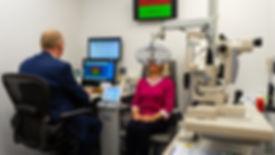 eye test at Wooding Opticians Blackpool.
