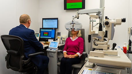 eye test at Wooding Opticians Blackpool.