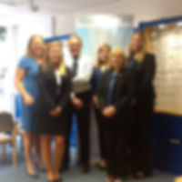 Team members in Axminster Optical Practice