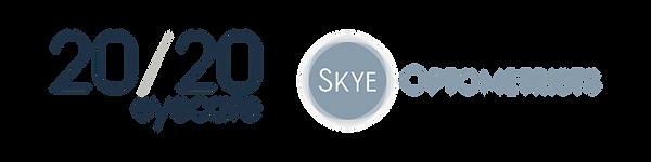skye optometrist and 20/20 eyecare logo