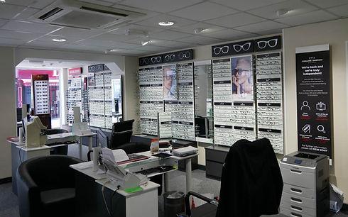 Conlons of Carrow Opticians Interior (Glasses Display Area)
