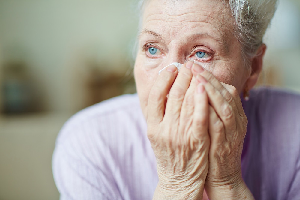 woman with a blocked tear duct