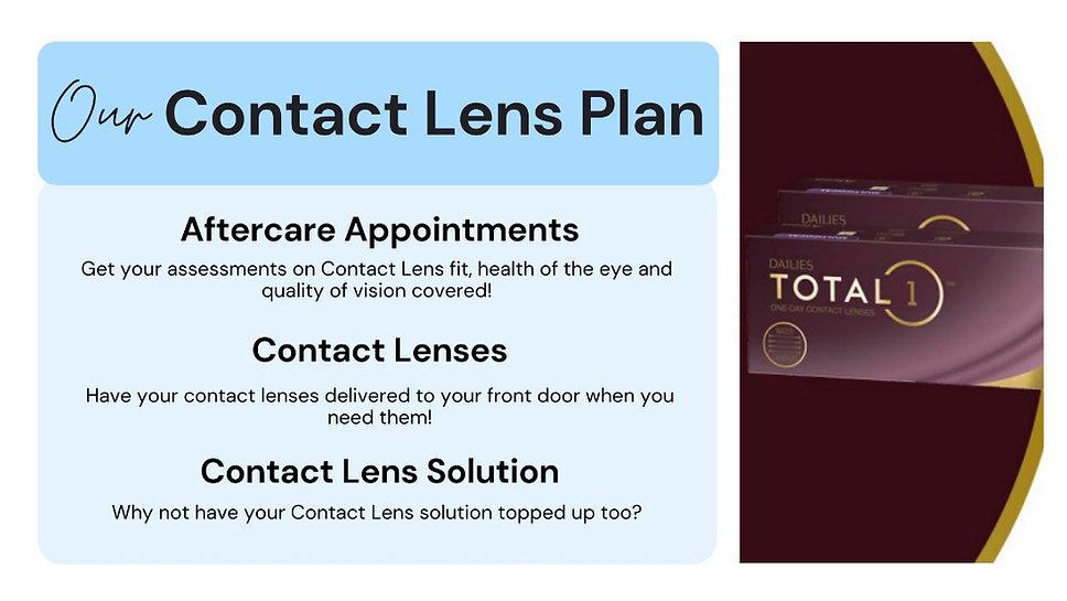 Oakwood Eyecare contact lens plan