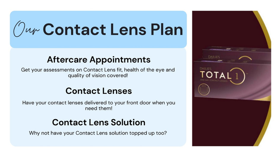 Oakwood Eyecare contact lens plan