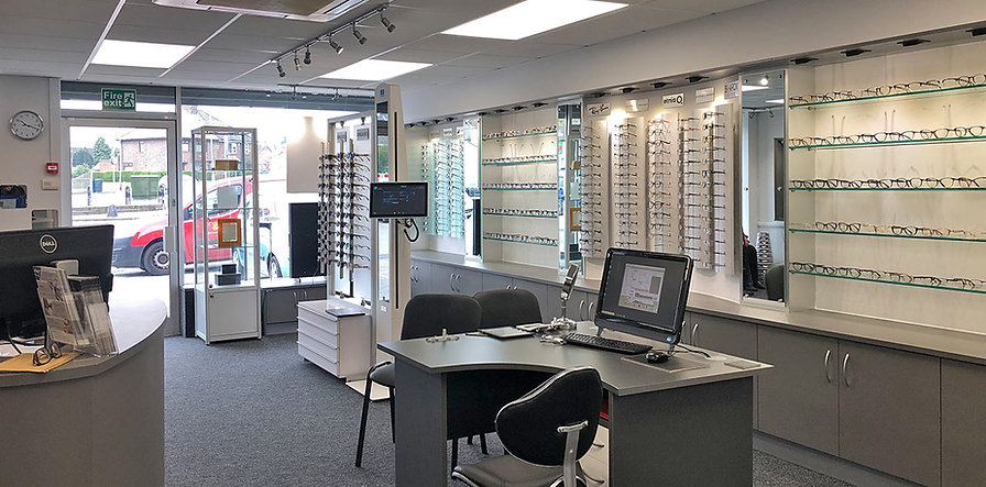 Inside Crompton Opticians