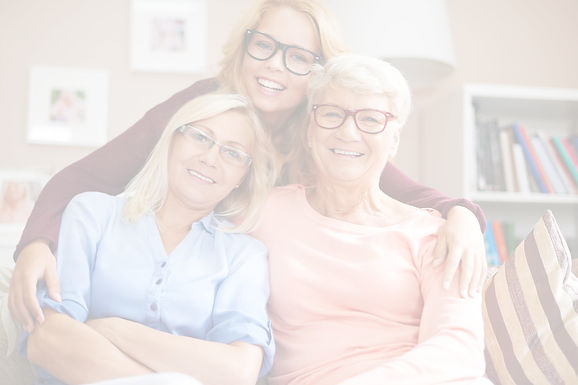 daughter, mum and nan spending time together