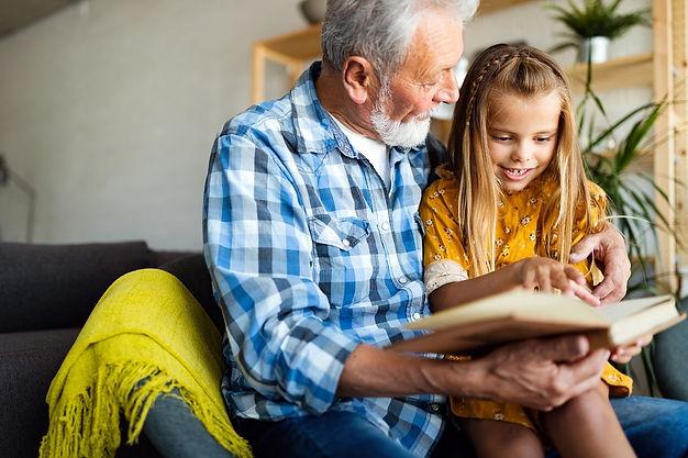 Grandfather enjoying full hearing health
