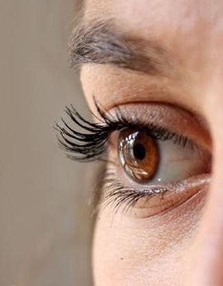 Women wearing contact lens