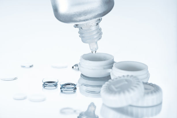close up view of contact lenses