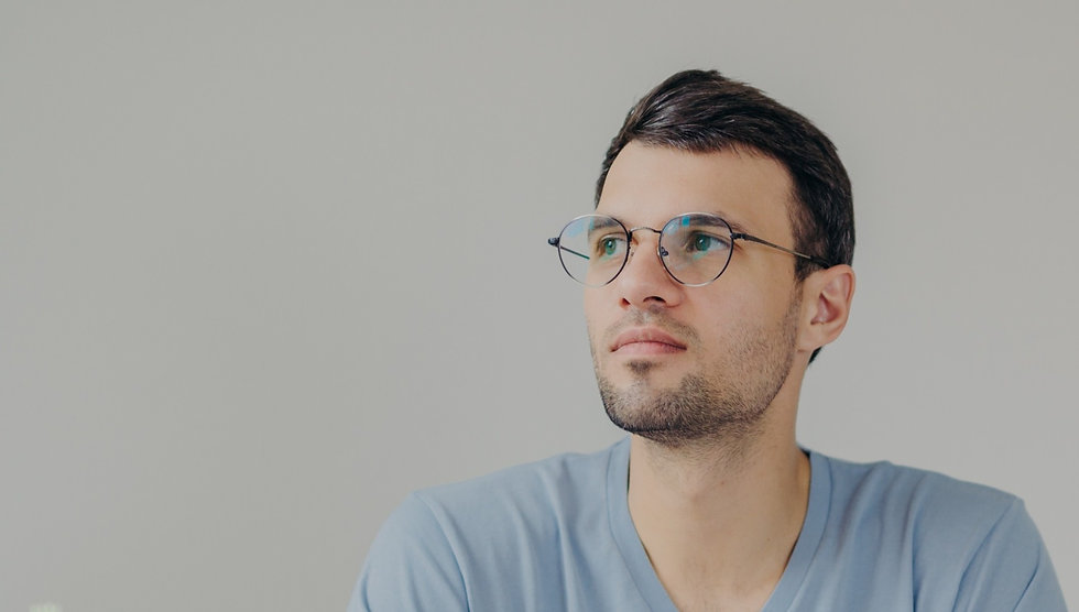 Man with Spectacle lenses