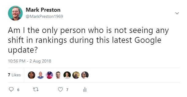 Google Update Tweet