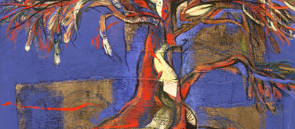 Mujer y Árbol - Miguel Betancourt