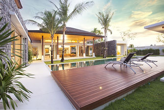 real Exterior design of spacious modern