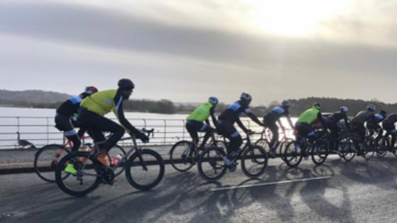 Portishead cyclists on the club run