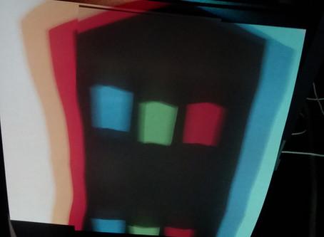 Colored Shadows: no illusions, just physics and biology
