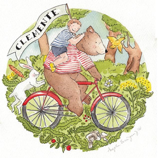 Oso en Bicicleta