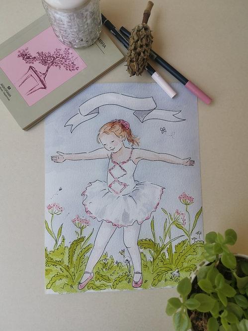 Lámina Personalizable Bailarina