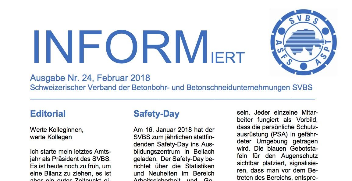 Newsletter INFORMiert Nr. 24 | SVBS I Aktuelles