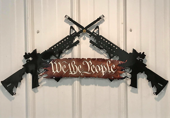 "AR 15 ""We the People"""