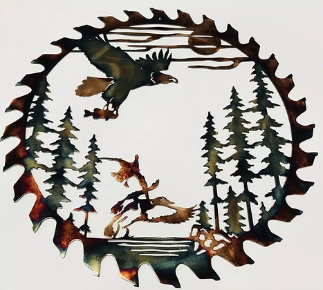 Fishing Eagle Sawblade Cutout