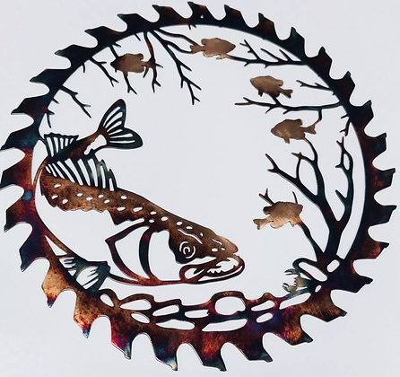 Walleye Scene Sawblade Cutout