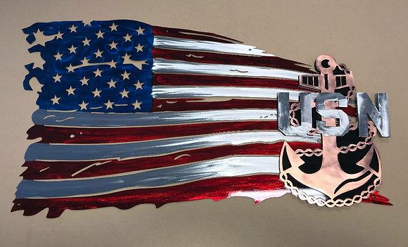 Flag w/ U.S. Navy emblem