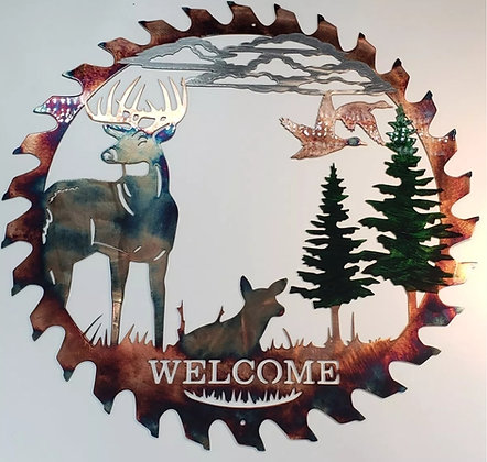 "12 Point ""Welcome"" Evergreen Sawblade"