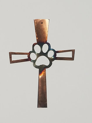 Dog Paw In A Cross