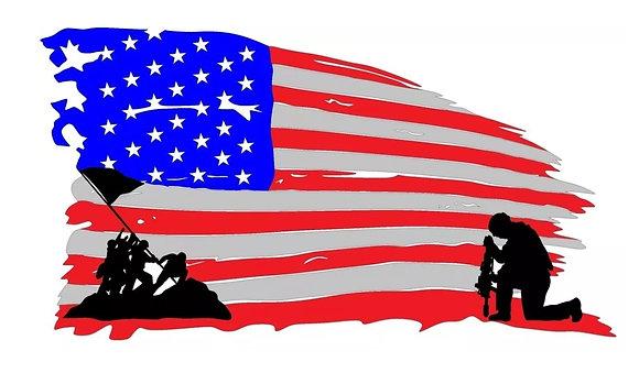 Iwo Jima Tattered Flag