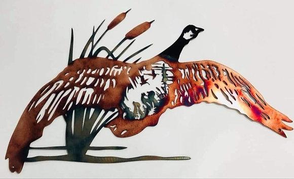 Goose Hunting Scene