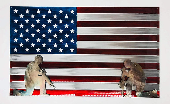 Flag w/soldiers