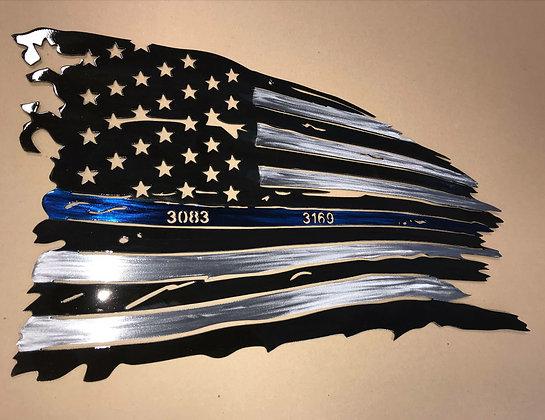 Custom Blue Line Flag
