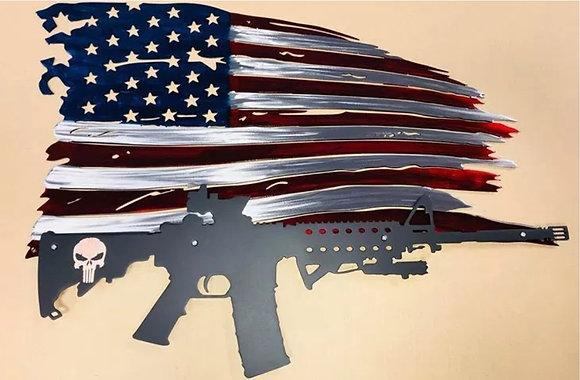 Tattered Flag w/Punisher AR