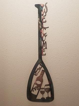Wine canoe paddle