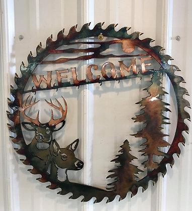 Buck and Doe Welcome