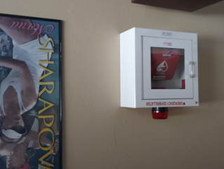 AED now at MRC... save a life.