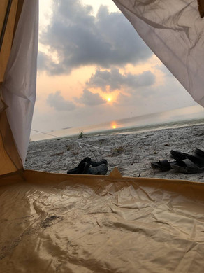 Sunrise from the tent