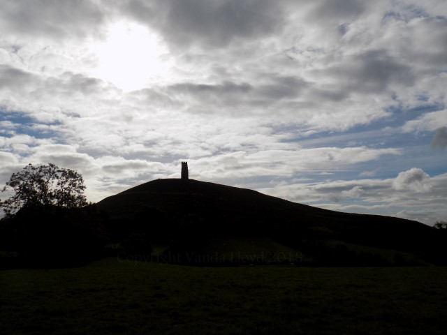 Glastonbury Tor Clouds and Sun