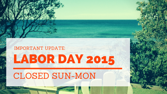 Labor Day 2015 Holiday Vacation Hours at Zio Charlotte