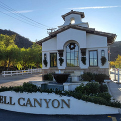 Bell Canyon's Entry Station in the afternoon sun