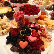 Heart-themed, kid-friendly charcuterie on display at Heart2Heart