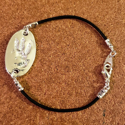 Black Elastic Bracelet part only for a Memory Charm - Charm purchased Separately