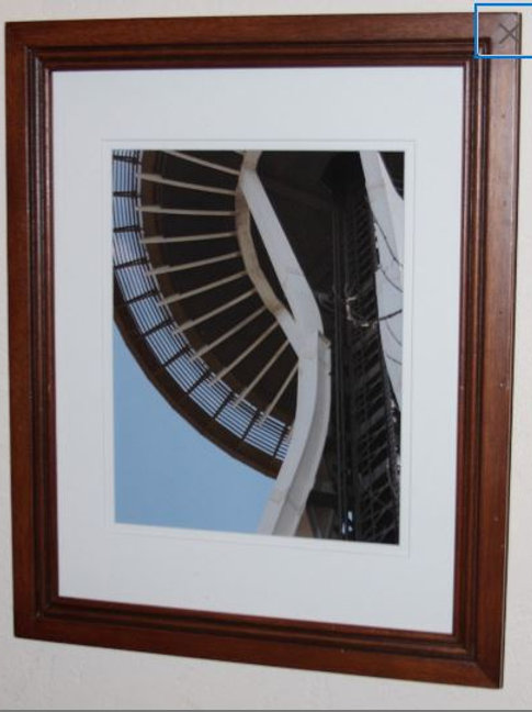 Space Needle Framed Photo with a White Mat