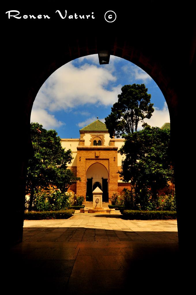 מרוקו קזבלנקה חצר מרכזית בארמון המלך