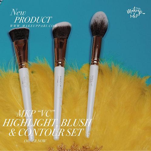 """MKP """"VC"""" Highlight, Blush & Contour Brush Set"""